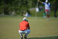 Bethesda, MD - June 29, 2014: Ben Martin prepares for his putt on the 8th hole during the Final Round of the Quicken Loans National at the Congressional Country Club in Bethesda, MD, June, 29, 2014.   (Photo by Don Baxter/Media Images International)