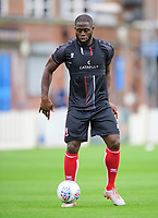 Lincoln City's John Akinde during the pre-match warm-up<br /> <br /> Photographer Chris Vaughan/CameraSport<br /> <br /> Football Pre-Season Friendly (Community Festival of Lincolnshire) - Lincoln City v Lincoln United - Saturday 6th July 2019 - The Martin & Co Arena - Gainsborough<br /> <br /> World Copyright © 2018 CameraSport. All rights reserved. 43 Linden Ave. Countesthorpe. Leicester. England. LE8 5PG - Tel: +44 (0) 116 277 4147 - admin@camerasport.com - www.camerasport.com