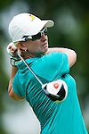 CHON BURI, THAILAND - FEBRUARY 17:  Karrie Webb of Australia tees off on the 12th hole during day two of the LPGA Thailand at Siam Country Club on February 17, 2012 in Chon Buri, Thailand.  Photo by Victor Fraile / The Power of Sport Images