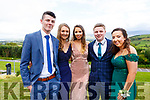Cian Goggin, Roisin Kerin, Muirne Scanlon, Harry Greene and Elizabeth Meehan attending the Presentation Tralee Debs in the Ballyroe Hotel on Tuesday.