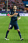 Atletico de Madrid's Juanfran celebrating the victory during Champions League 2015/2016 Quarter-Finals 2nd leg match. April 13, 2016. (ALTERPHOTOS/BorjaB.Hojas)