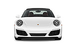 Car photography straight front view of a 2017 Porsche 911 Carrera S 2 Door Coupe Front View