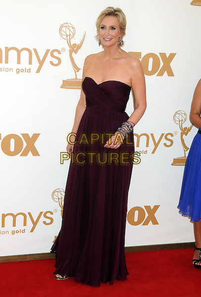Jane Lynch.63rd Primetime Emmy Awards held at Nokia Theatre L.A. Live. Los Angeles, California, USA. .18th September 2011.emmys full length strapless dress pink purple bracelets .CAP/ADM/BP.©Byron Purvis/AdMedia/Capital Pictures.
