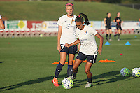 Piscataway, NJ - Saturday Aug. 27, 2016: Taylor Lylte, Nikki Stanton prior to a regular season National Women's Soccer League (NWSL) match between Sky Blue FC and the Chicago Red Stars at Yurcak Field.