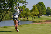 Paula Creamer (USA) watches her tee shot on 8 during round 2 of the 2018 KPMG Women's PGA Championship, Kemper Lakes Golf Club, at Kildeer, Illinois, USA. 6/29/2018.<br /> Picture: Golffile | Ken Murray<br /> <br /> All photo usage must carry mandatory copyright credit (© Golffile | Ken Murray)