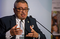 Le Docteur<br /> Horacio Arruda<br />  en Conférence de presse<br /> le3 juillet 2020.<br /> a Longueuil, <br /> <br /> <br /> PHOTO :  Denis Germain - Agence Quebec Presse