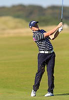 Paul Dunne (IRL) on the 11th fairway during Round 1 of the 2015 Alfred Dunhill Links Championship at Kingsbarns in Scotland on 1/10/15.<br /> Picture: Thos Caffrey | Golffile