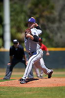 Northwestern Wildcats relief pitcher Josh Davis (34) delivers a pitch during a game against the Illinois State Redbirds on March 6, 2016 at North Charlotte Regional Park in Port Charlotte, Florida.  Illinois State defeated Northwestern 10-4.  (Mike Janes/Four Seam Images)