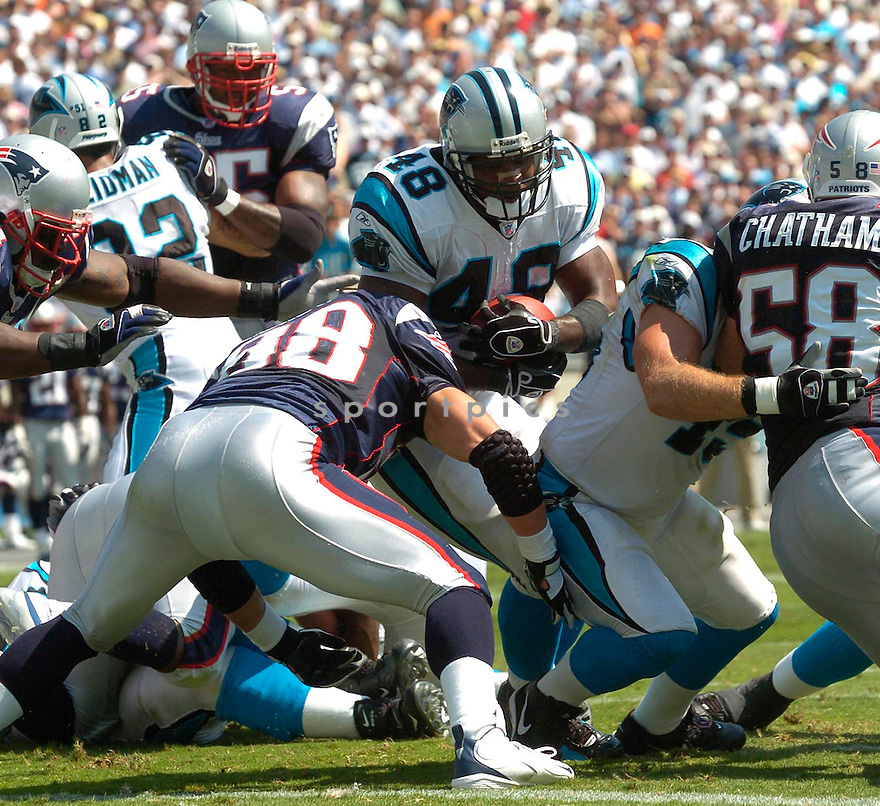 Stephen Davis, of the Carolina Panthers, during their game against the New England Patriots on September 18, 2005...Carolina win 27-17..David Durochik / SportPics
