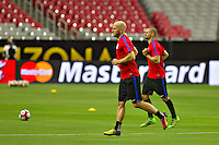 Glendale, AZ - Friday June 24, 2016: Michael Bradley of the United States during a training prior to the third place match of the Copa America Centenario at the University of Phoenix Stadium.<br /> Action photo during of the United States team training before the game against the selection of Colombia for third place in the America Cup Centenary 2016 at University of Phoenix Stadium<br /> <br /> Foto de accion durante el Entrenamiento de la Seleccion de Estados Unidos previo al partido contra la Seleccion de Colombia por el tercer lugar de la Copa America Centenario 2016, en el Estadio de la Universidad de Phoenix, en la foto: Michael Bradley  de USA<br /> <br /> <br /> 24/06/2016/MEXSPORT/Victor Posadas.