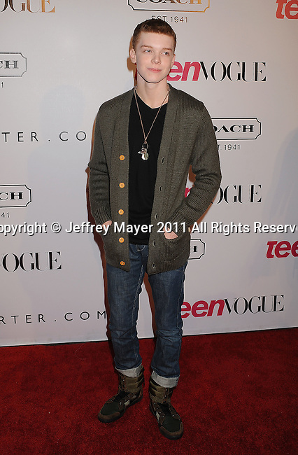 HOLLYWOOD, CA - SEPTEMBER 23: Cameron Monaghan arrives at the 9th Annual Teen Vogue Young Hollywood Party at Paramount Studios on September 23, 2011 in Hollywood, California.