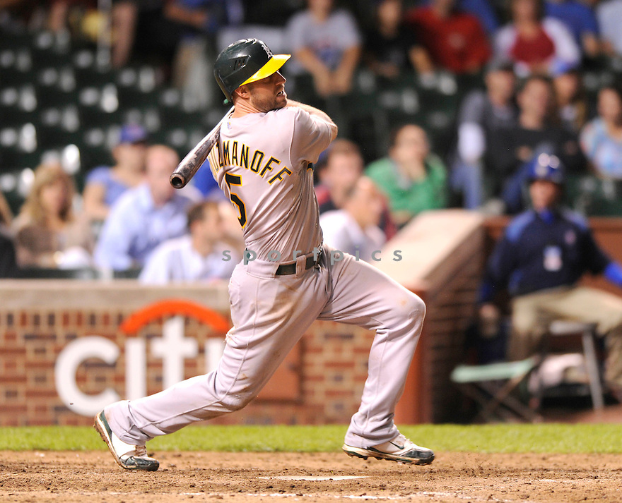 CLIFF PENNINGTON,  of the Oakland A's  in action  during the A's game against the Chicago Cubs .  The A's beat the Cubs 10-2 in Chicago, Illinois on June 15, 2010...DAVID DUROCHIK / SPORTPICS