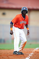 GCL Astros outfielder Daz Cameron (54) leads off third during a game against the GCL Braves on July 23, 2015 at the Osceola County Stadium Complex in Kissimmee, Florida.  GCL Braves defeated GCL Astros 4-2.  (Mike Janes/Four Seam Images)