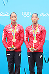 (L to R) Yukiko Inui, Risako Mitsui (JPN), <br /> AUGUST 16, 2016 - Synchronized Swimming : <br /> Duets Technical Routine <br /> at Maria Lenk Aquatics Centre <br /> during the Rio 2016 Olympic Games in Rio de Janeiro, Brazil. <br /> (Photo by Koji Aoki/AFLO SPORT)