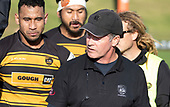 Bombay Coach Jeff Marr. Counties Manukau Premier 1 McNamara Cup Final between Ardmore Marist and Bombay, played at Navigation Homes Stadium on Saturday July 20th 2019.<br />  Bombay won the McNamara Cup for the 5th time in 6 years, 33 - 18 after leading 14 - 10 at halftime.<br /> Photo by Richard Spranger.