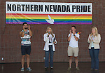 Mayor Hillary Schieve speaks at the Northern Nevada Pride Parade and Festival in Reno on Saturday, July 23, 2016.