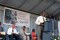 2001 August 28..Rehabilitation..Attucks Theatre.Church Street..RENOVATION GROUNDBREAKING CEREMONY...NEG#.NRHA#..
