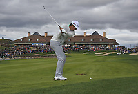 Nacho Elvira (ESP) on the 18th fairway during Round 4 of the Open de Espana 2018 at Centro Nacional de Golf on Sunday 15th April 2018.<br /> Picture:  Thos Caffrey / www.golffile.ie<br /> <br /> All photo usage must carry mandatory copyright credit (&copy; Golffile | Thos Caffrey)