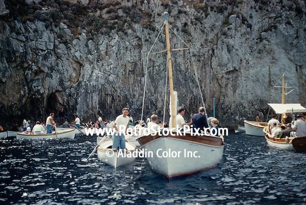 People on boats, Positano, Sorrento