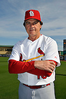 Mar 01, 2010; Jupiter, FL, USA; St. Louis Cardinals manager Tony LaRussa (10) during  photoday at Roger Dean Stadium. Mandatory Credit: Tomasso De Rosa/ Four Seam Images