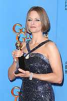 BEVERLY HILLS, CA - JANUARY 13: Jodie Foster in the press room at the 70th Annual Golden Globe Awards at the Beverly Hills Hilton Hotel in Beverly Hills, California. January 13, 2013. Credit MediaPunch Inc. /NortePhoto
