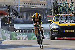 Floris De Tier (BEL) Team LottoNL-Jumbo during Stage 1 of the La Vuelta 2018, an individual time trial of 8km running around Malaga city centre, Spain. 25th August 2018.<br /> Picture: Eoin Clarke | Cyclefile<br /> <br /> <br /> All photos usage must carry mandatory copyright credit (© Cyclefile | Eoin Clarke)