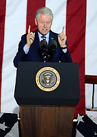***FILE PHOTO*** Bill Clinton Has Not Apologized To Monica Lewinsky And Claims Did The Right Thing Staying In Office.<br /> <br /> PHILADELPHIA, PA - NOVEMBER 7: Bill Clinton at the GOTV Rally in support of Hillary Clinton for President at Independence Mall in Philadelphia, Pennsylvania on November 7, 2016. <br /> CAP/MPI01<br /> &copy;MPI01/Capital Pictures