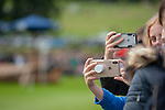 Stamford, Lincolnshire, United Kingdom, 7th September 2019, Spectators using their phones to record the moment during the Cross Country Phase on Day 3 of the 2019 Land Rover Burghley Horse Trials, Credit: Jonathan Clarke/JPC Images