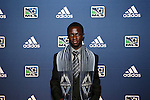 January 17th, 2013: #4 draft pick Kekuta Manneh (GAM), selected by the Vancouver Whitecaps FC. The 2013 MLS SuperDraft was held during the NSCAA Annual Convention held in Indianapolis, Indiana.