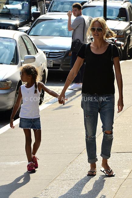 WWW.ACEPIXS.COM<br /> <br /> June 9 2015, New York City<br /> <br /> Model Heidi Klum walking the streets of Manhattan with her kids on June 9 2015 in New York City.<br /> <br /> <br /> Please byline: Curtis Means/ACE Pictures<br /> <br /> ACE Pictures, Inc.<br /> www.acepixs.com, Email: info@acepixs.com<br /> Tel: 646 769 0430