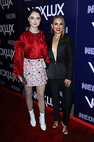 "HOLLYWOOD, CA - DECEMBER 5: Raffey Cassidy, Natalie Portman, at the LA Premiere Of Neon's ""Vox Lux"" at ArcLight Hollywood in Hollywood California on December 4, 2018. Credit: Faye Sadou/MediaPunch"