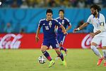 Hotaru Yamaguchi (JPN), <br /> JUNE 19, 2014 - Football /Soccer : <br /> 2014 FIFA World Cup Brazil <br /> Group Match -Group C- <br /> between Japan 0-0 Greece <br /> at Estadio das Dunas, Natal, Brazil. <br /> (Photo by YUTAKA/AFLO SPORT)