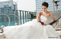 Wedding promotion photo for W Hotel Hong Kong..Model: Phuong Rouzaire.Makeup Artist: Rhine Wong.Hair Stylist: Tim Wong.Photographer: Imagennix | Scott Brooks.Location: Wet Deck