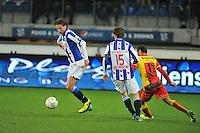 VOETBAL: ABE LENSTRA STADION: HEERENVEEN: 30-11-2013, SC Heerenveen - Go Ahead Eagles, uitslag 3-1, Mitchell Dijks (#3 | SCH), Marten de Roon (#15 | SCH), Xander Houtkoop (#11 | GAE), ©foto Martin de Jong