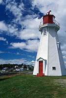 lighthouse, Campobello Island, New Brunswick, Canada, Bay of Fundy, West Lighthouse on the Bay of Fundy.