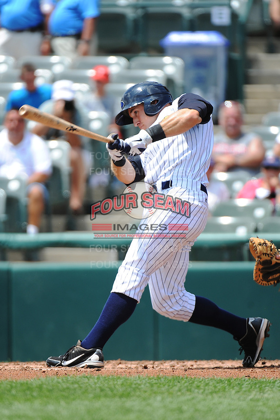 Trenton Thunder outfielder Cody Grice (23) during game against the Reading Fightin Phils at ARM & HAMMER Park on July 8, 2013 in Trenton, NJ.  Trenton defeated Reading 10-6.  (Tomasso DeRosa/Four Seam Images)