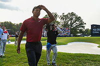 Tiger Woods (USA) departs 18 following the 4th round of the 100th PGA Championship at Bellerive Country Club, St. Louis, Missouri. 8/12/2018.<br /> Picture: Golffile | Ken Murray<br /> <br /> All photo usage must carry mandatory copyright credit (&copy; Golffile | Ken Murray)