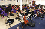 WATERBURY CT. 12 December 2018-121218SV23-Music class at Brass City Charter School in the former St. Margaret's of Scotland Church in Waterbury Wednesday.<br /> Steven Valenti Republican-American