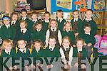 POSE: Posing for a pic were the first year pupils from Gaelscoil, Nai?onain Bheaga, Liostuathail, on Monday. Front l-r: Ma?ire Catherine Ni? Chonchu?ir, Sean O Duinn,Leititia Ni? Sheighin, DJ O Sleibhi?n, Kiana Ni? Breathnach agus Aislinn Notaro. Centre l-r:Erica Ni? Thoma?is, Ro?isi?n Ni? Cheallaigh, Tara Ni? Mhuireartaigh,Amy Ni? Dhuinn,Alex Ni? Shochru? agus Liam Breathnach. Back row l-r: Niamh Ni? hArga?in, Eoin O Da?laigh, Conor mac Suibhne, Robert O hlfearna?in, Philip O Bea?ra, Sophie Ni? Riaga?in agus Anthony O Floinn.... ....