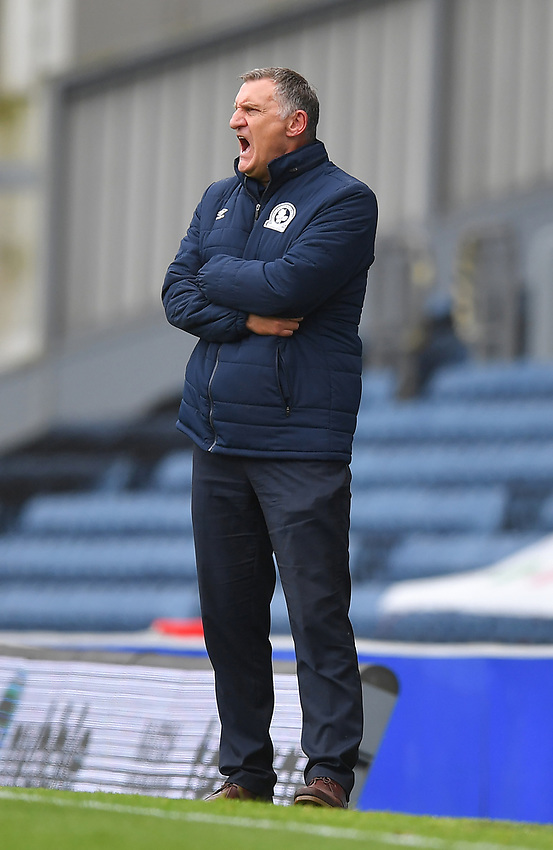Blackburn Rovers' Manager Tony Mowbray<br /> <br /> Photographer Dave Howarth/CameraSport<br /> <br /> The EFL Sky Bet Championship - Blackburn Rovers v Reading - Saturday 18th July 2020 - Ewood Park - Blackburn<br /> <br /> World Copyright © 2020 CameraSport. All rights reserved. 43 Linden Ave. Countesthorpe. Leicester. England. LE8 5PG - Tel: +44 (0) 116 277 4147 - admin@camerasport.com - www.camerasport.com