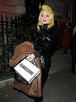 Pam Hogg at the H&amp;M x Moschino collection launch party, Annabel's, Berkeley Square, London, England, UK, on Tuesday 06 November 2018.<br /> CAP/CAN<br /> &copy;CAN/Capital Pictures