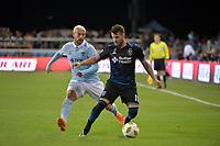 San Jose, CA - Saturday September 15, 2018: Vako during a Major League Soccer (MLS) match between the San Jose Earthquakes and Sporting Kansas City at Avaya Stadium.
