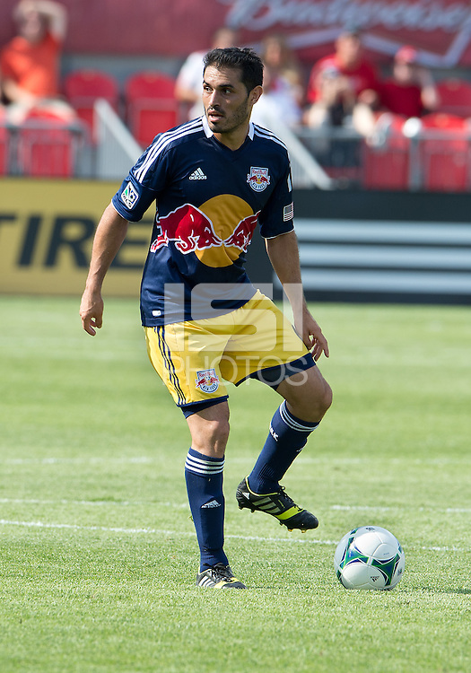 July 20, 2013: New York Red Bulls forward Fabian Espindola #9 in action during a game between Toronto FC and the New York Red Bulls at BMO Field in Toronto, Ontario Canada.<br /> The game ended in a 0-0 draw.