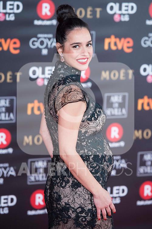 Cristina Brondo attends red carpet of Goya Cinema Awards 2018 at Madrid Marriott Auditorium in Madrid , Spain. February 03, 2018. (ALTERPHOTOS/Borja B.Hojas)