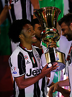 Juan Cuadrano    celebrate after win the Italian Cup Final  football match against Lazio  at  the Olympic stadium in Rome, Italy on the 17th May 2017