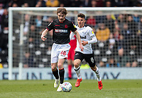 Bolton Wanderers' Luca Connell breaks away from  Derby County's Mason Mount <br /> <br /> Photographer Andrew Kearns/CameraSport<br /> <br /> The EFL Sky Bet Championship - Derby County v Bolton Wanderers - Saturday 13th April 2019 - Pride Park - Derby<br /> <br /> World Copyright &copy; 2019 CameraSport. All rights reserved. 43 Linden Ave. Countesthorpe. Leicester. England. LE8 5PG - Tel: +44 (0) 116 277 4147 - admin@camerasport.com - www.camerasport.com