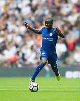 Chelsea's N'Golo Kante during the Premier League match between Tottenham Hotspur and Chelsea at Wembley Stadium, London, England on 20 August 2017. Photo by Andrew Aleksiejczuk / PRiME Media Images.
