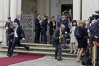Roma, 19 Maggio 2014<br /> Il Presidente del Consiglio dei Ministri, Matteo Renzi, ha incontrato a Villa Doria Pamphilj il Primo Ministro della Repubblica di Polonia, Donald Tusk. <br /> Renzi e Tusk <br /> The President of the Council of Ministers, Matteo Renzi, met at Villa Doria Pamphili, the Prime Minister of the Republic of Poland, Donald Tusk.