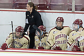 Steph Lemieux (BC - 10), Katie King Crowley (BC - Head Coach), Danielle Doherty (BC - 19), Melissa Bizzari (BC - 4) - The Boston College Eagles defeated the visiting University of Maine Black Bears 5 to 1 on Sunday, October 6, 2013, in their Hockey East season opener at Kelley Rink in Conte Forum in Chestnut Hill, Massachusetts.