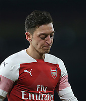Arsenal's Mesut Ozil<br /> <br /> Photographer Rob Newell/CameraSport<br /> <br /> UEFA Europa League First Leg - Arsenal v Napoli - Thursday 11th April 2019 - The Emirates - London<br />  <br /> World Copyright © 2018 CameraSport. All rights reserved. 43 Linden Ave. Countesthorpe. Leicester. England. LE8 5PG - Tel: +44 (0) 116 277 4147 - admin@camerasport.com - www.camerasport.com